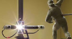 Breuckmann SteroScan white light scanner used to scan Johnny Bench statue