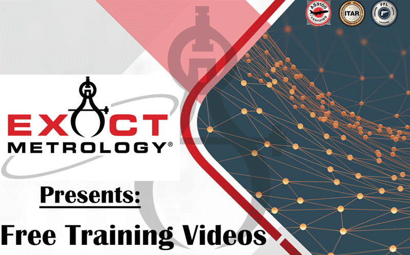 Exact Metrology presents free training videos for PolyWorks Inspector and Hexagon Romer Absolute Arm