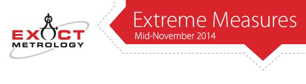 Exact Metrology - Extreme Measures - November 2014